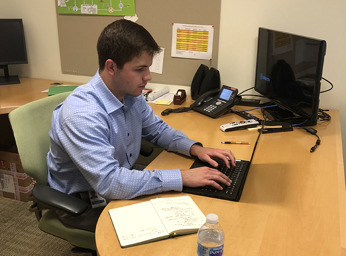 Alex Hosker '19 is stoking his passion for financial and client services via an internship with Fidelity Investments in Boston, where he's a business analyst intern this summer.