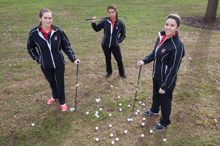 seniors from the women's golf team
