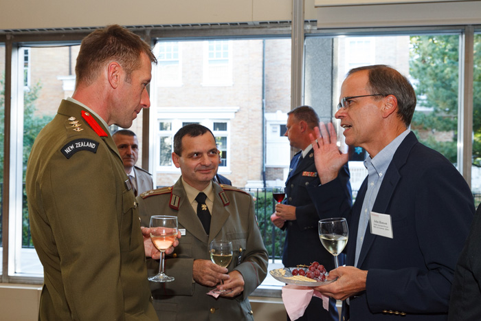 A diverse group gathers for the annual International Fellows Reception.