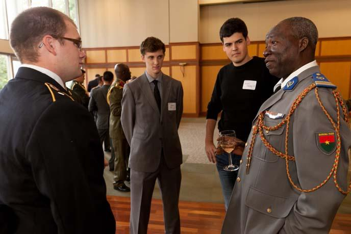 The 2012 International Fellows Reception brought together approximately 150 campus-community members with current and future military leaders from 49 countries and six continents.