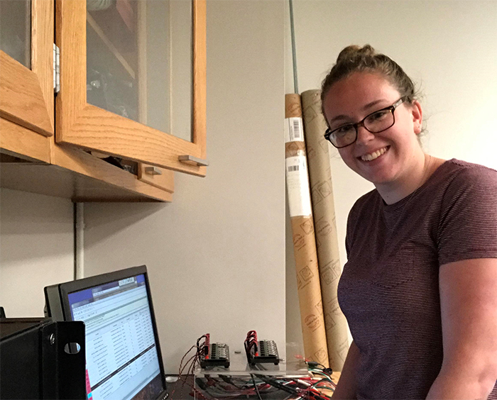 Whether she's in the lab or not, Julia Huddy '19 is always learning something from her experience as an undergrad researcher at the Princeton Institute for the Science and Technology of Materials.