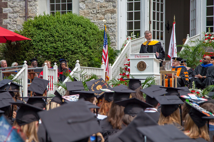 Pierce Brosnan delivers Dickinson College's 2019 Commencement address.