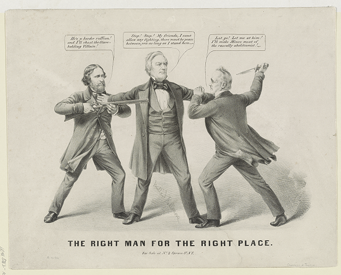 The Great Presidential Race of 1856, Political Cartoon