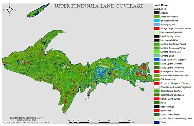 Gis Analysis Of Grey Wolf Habitats In Michigan Gis Student Work