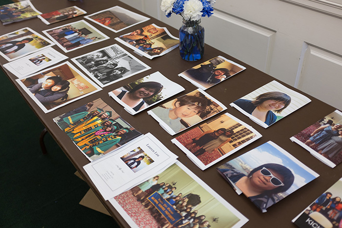 Photos of Lauren Lau '17, displayed during the Dec. 4 memorial service.