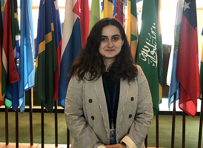 Mariam Kapanadze '19 is an advisor intern at the United Nations in New York City, where she focuses on events with the Economic and Social Council and tackling science, sustainability and more.