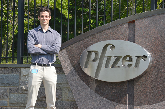 Chemistry major Matt Loalbo '20 explores the behind-the-scenes workings of the pharmaceutical industry as a medicine design intern at Pfizer Research and Development