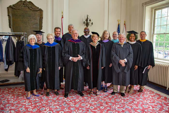 trustees at commencement