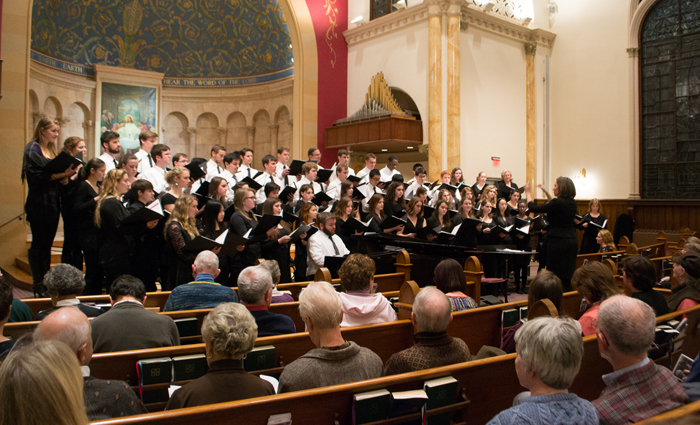 dickinson college choir, dickinson college orchestra, holiday concert, first lutheran church