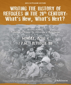 This is the poster for the 2016 History Pflaum Lecture with Professor Peter Gatrell.
