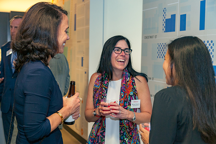 Philadelphia-area alumni and students connected during a recent Career Conversations event.