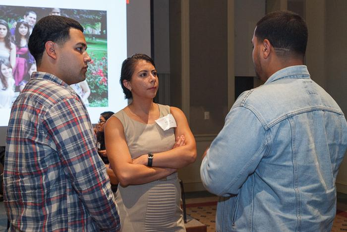 Posse alumni discuss their experiences in the scholarship and mentorship program during the