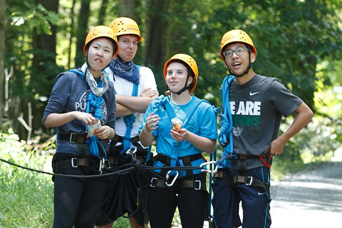 This year, more than 200 new students participated in Pre-Orientation Adventure programs (Pre-O), including two days of outdoor adventures, ropes courses and hiking at the nearby Diakon Wilderness Center.
