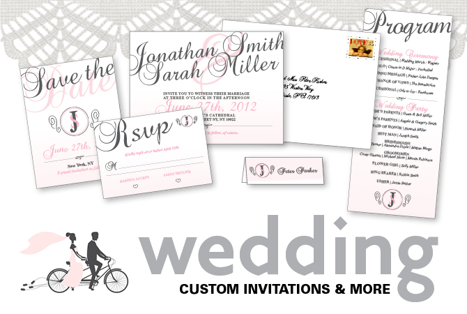 Print Center offers custom wedding invitations and more.