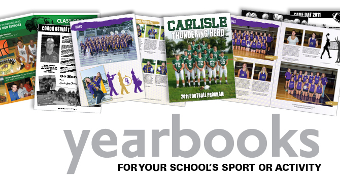 Print Center offers school yearbook design and printing.