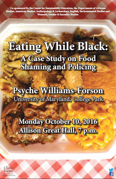 Africana Studies co-sponsorship poster for Psyche Forson