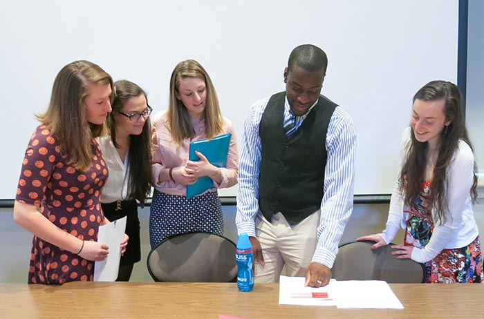 Students majoring in different disciplines came together to share research during the ROWGS Symposium.
