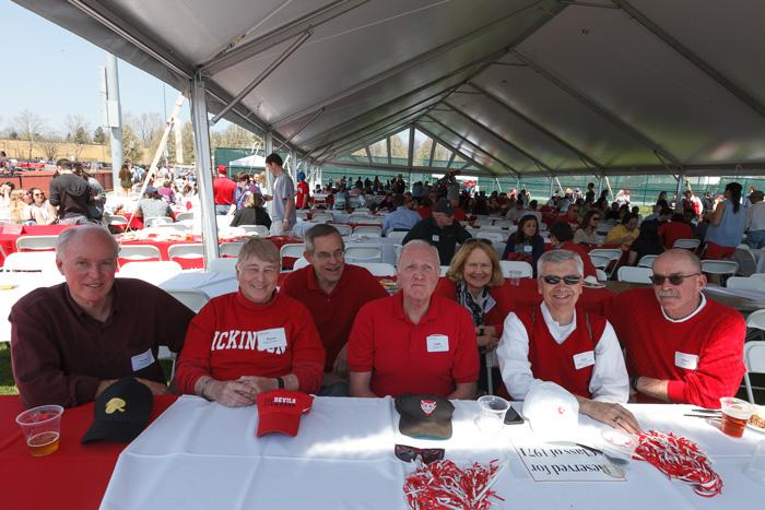 alumni gather for red and white day