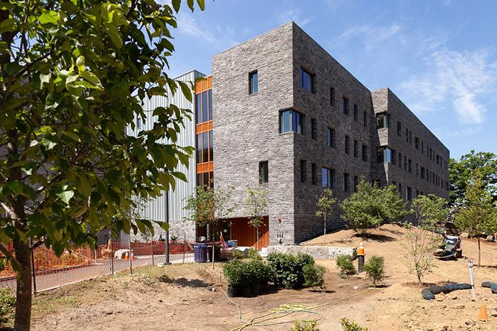 Photo of High Street Residence Hall during construction