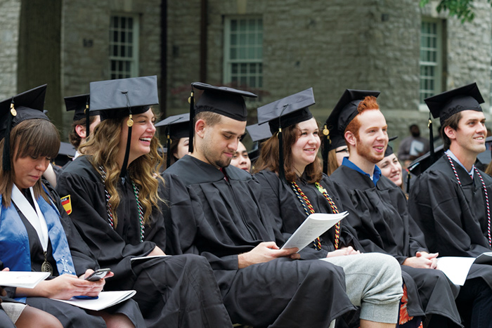 Student at commencement 2017