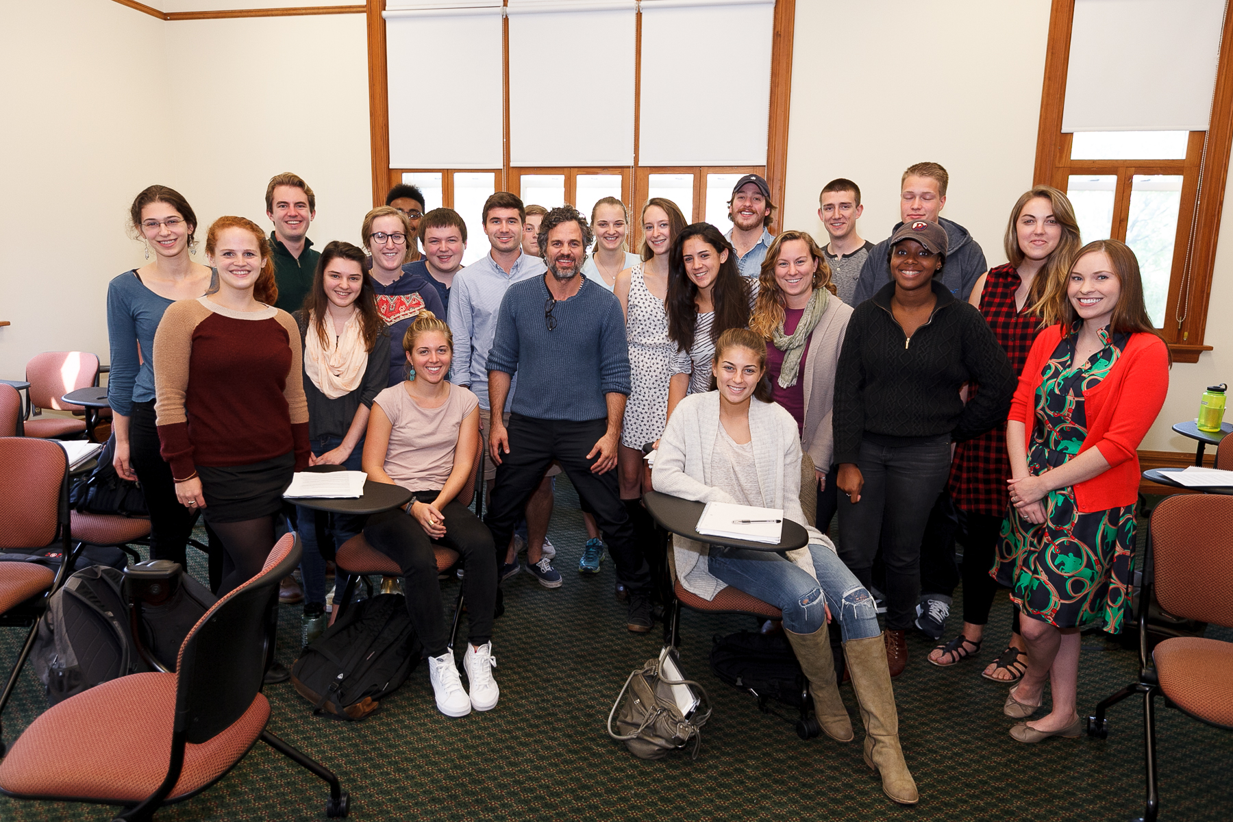 Mark Ruffalo visits Dickinson's Political Science class