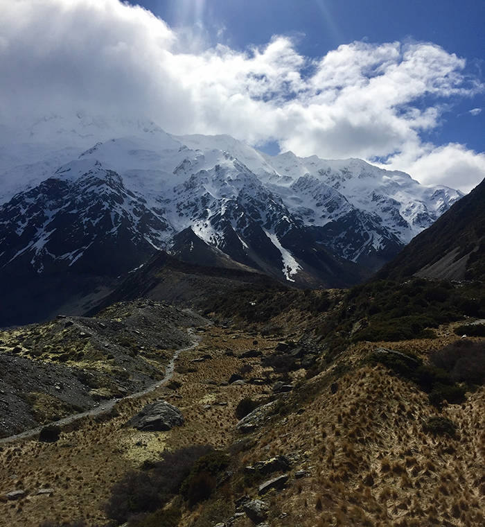 "Architecture & Landscape: ""Mt. Cook on a Cloudy Day"" at Mount Cook, New Zealand, by Janna Safran '19"