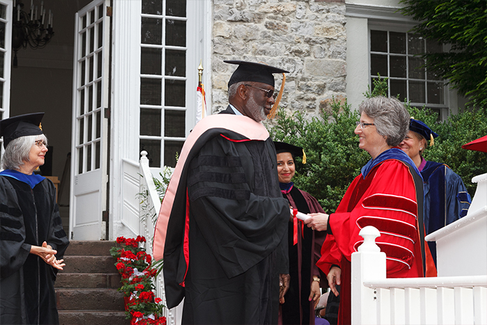 On campus to receive an honorary doctor of public service degree, former U.S. surgeon general David Satcher opens up about a range of issues.