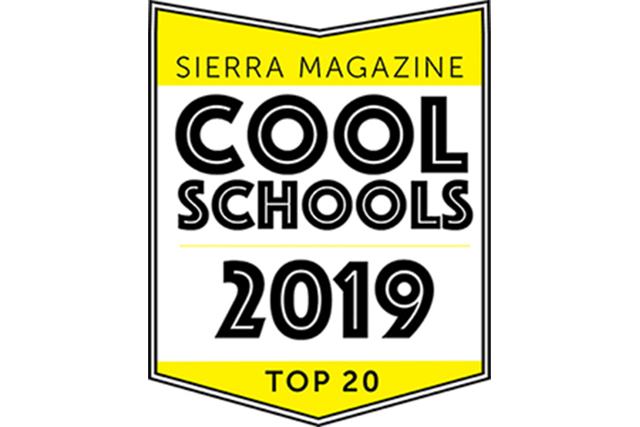 Dickinson named to Sierra magazine's 2019 list of cool schools.