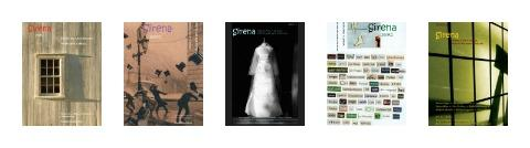Past covers of Sirena poetry journal