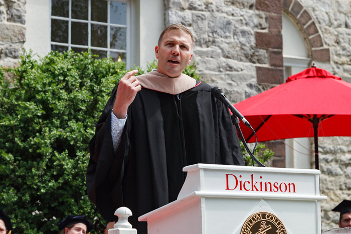 Stephen M. Smith '92, president and CEO of L.L.Bean, urges student to make the most of life's journey during his Commencement speech.