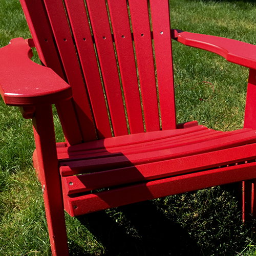 Red lawn chair