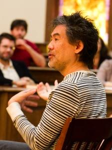 Picture of David Henry Hwang in Classroom