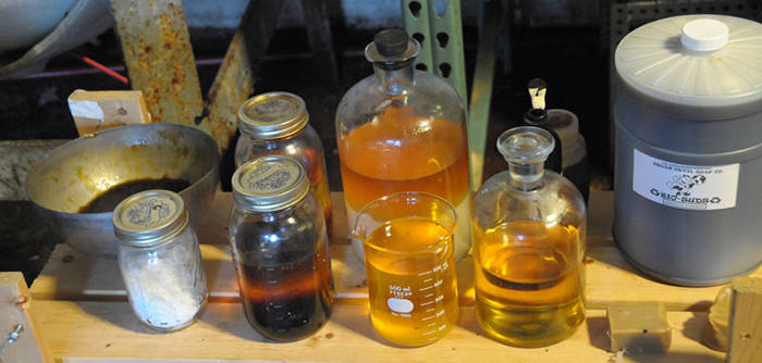 Samples of biodiesel