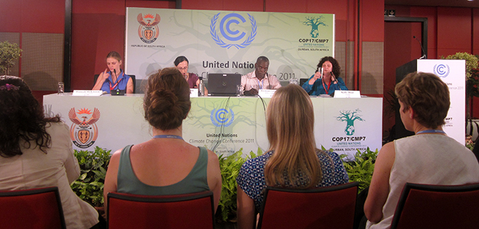 Students attend COP17 in Durban, South Africa