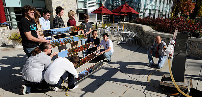 Physics students build a solar tracker.