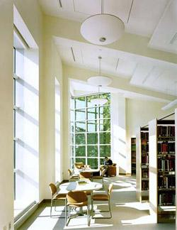 Photograph of the reading room in Tome Hall