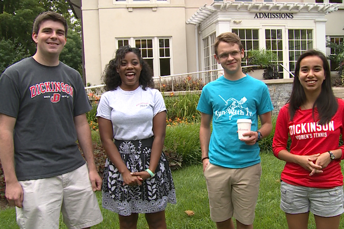 Admissions tour guides narrated a new campus tour video.