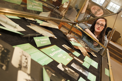 Caitlin Moriarty '13 is curator of archives' latest exhibit.