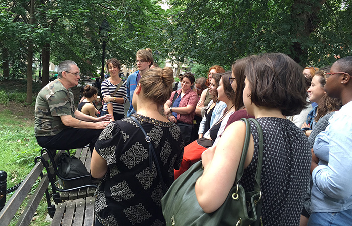 Twenty students and four professors took a queer-history tour of Greenwich Village.