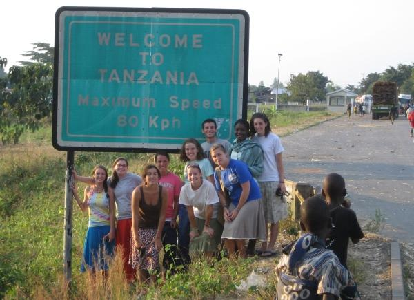 Photograph of students in Tanzania