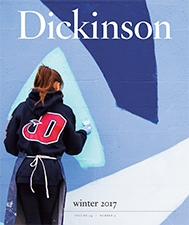 Cover of Dickinson magazine winter 2017