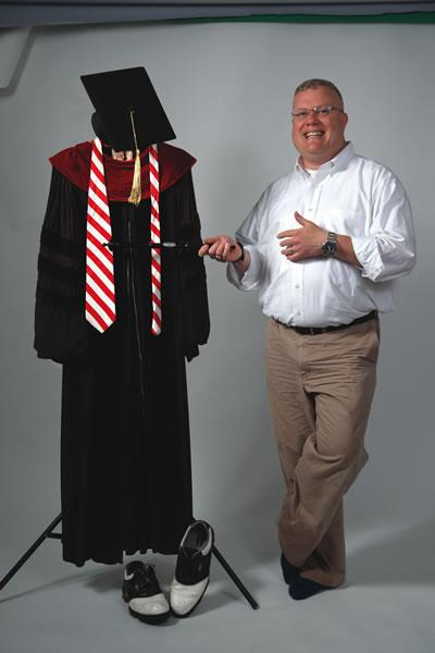 Picture of Chuck Zwemer and his Doctoral Robe