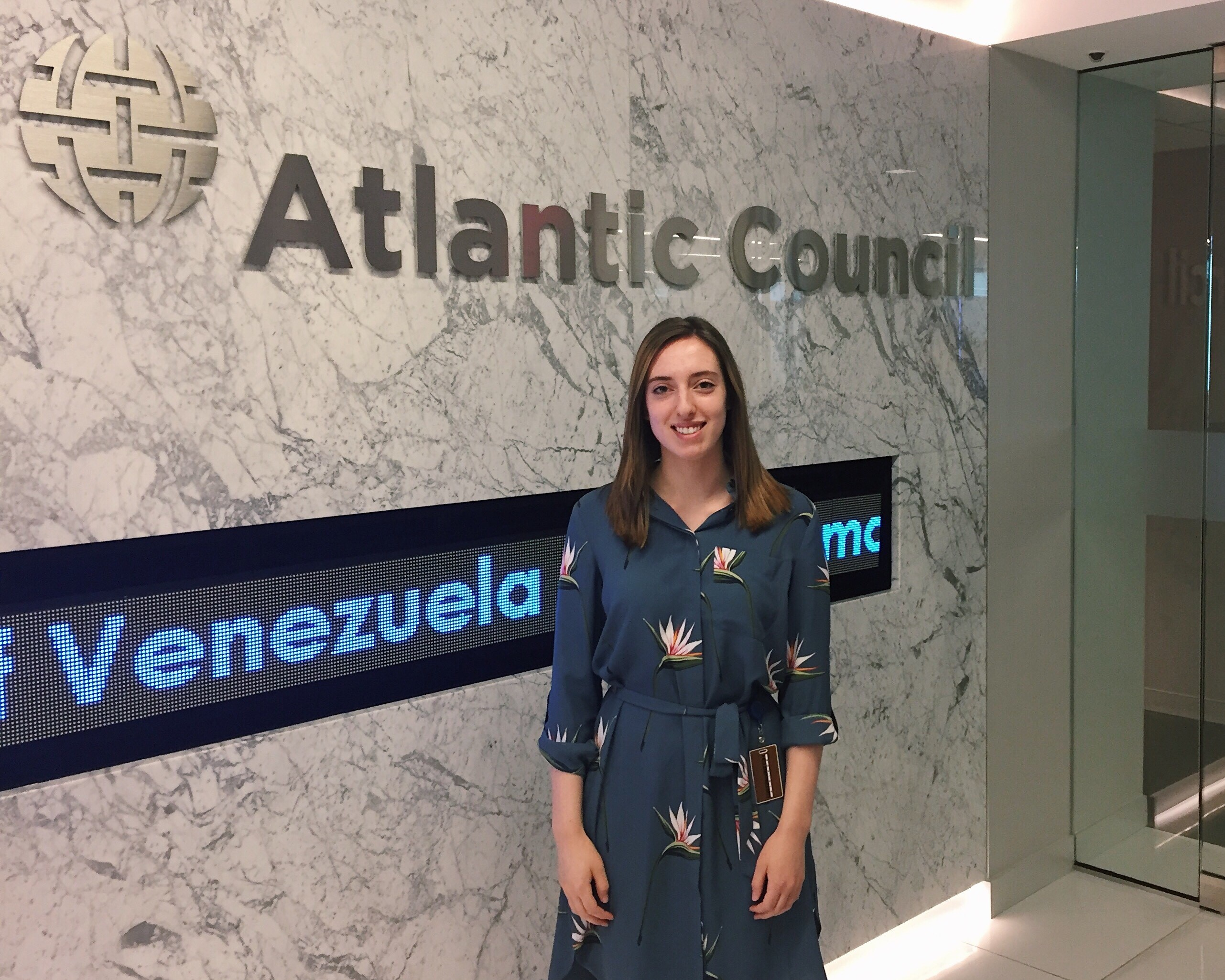 Laura Zwerling '18 is using her internship experience to inform her career goals after graduation. She spent this summer as an events intern at the Atlantic Council.