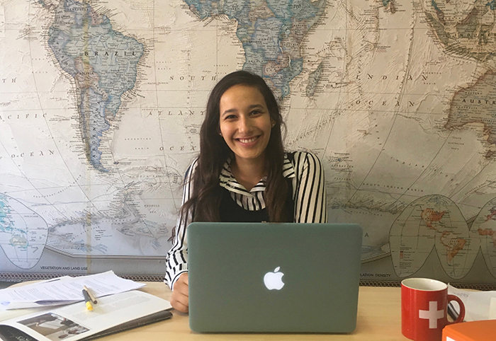 Sophie Haas-Golberg '19 is gaining experience as an intern with International Bridges to Justice in Geneva, a NGO that aims to protect the basic legal rights of citizens in developing nations.
