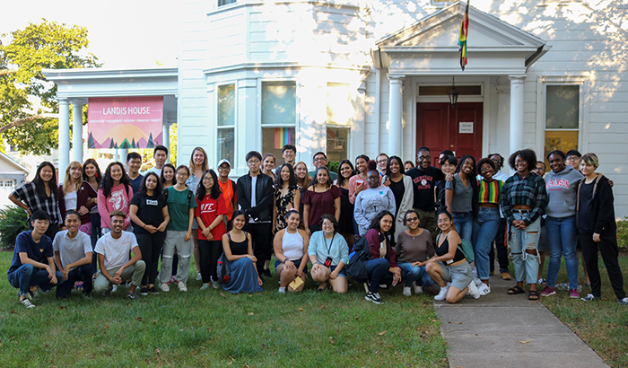 A.C.E. program mentors and mentees met for the first time during a welcome social at Landis House.