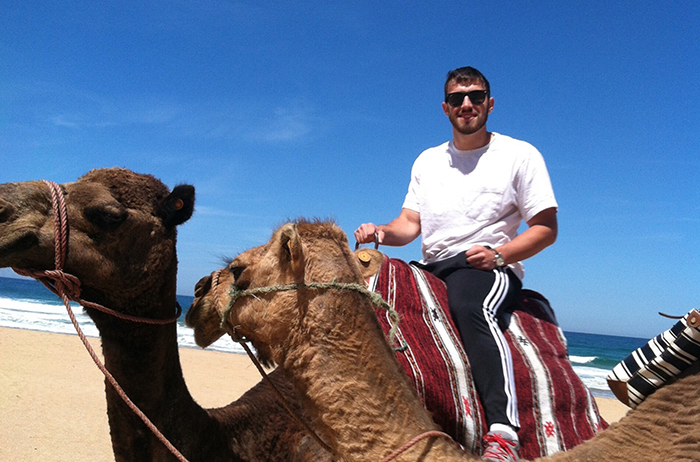 Alec Ward '18, during a study-abroad stint in Morocco.
