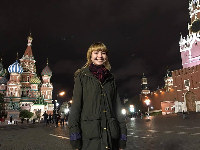 Allison Stroyan is currently studying in Russia through Dickinson's study-abroad program.