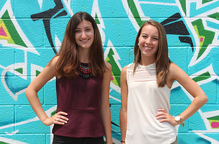 Amber McGarvey '15 and Courtney Wojcik '17 are summer interns at TerraCycle, named one of the fastest growing green organizations in the world.