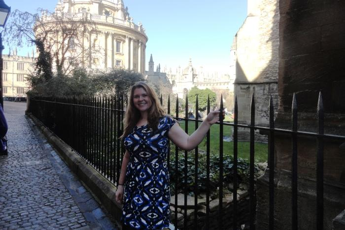 Amy Fly makes the most of her time at Oxford
