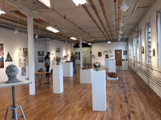 Gallery shot of a past studio-art exhibition